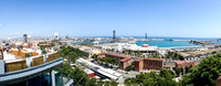 VIew of Barceloneta and Port Vell from Montjuic